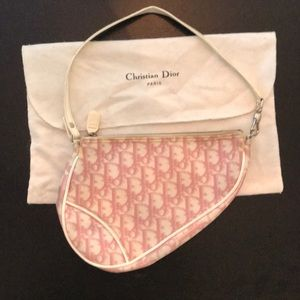 Christian Dior pink saddle bag